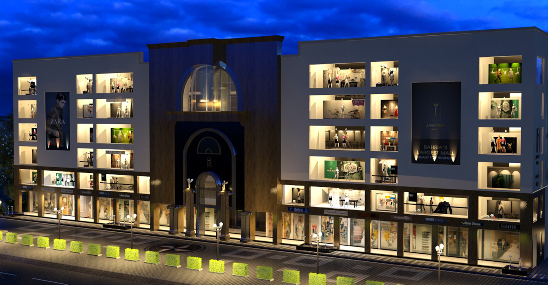 Building-Design-Hiline-Lahore-portfolio-Jasmine-Mall-Bahria-Town-05