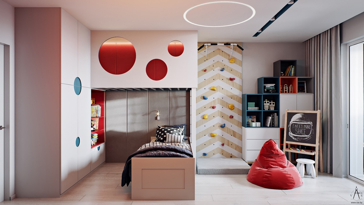 Kids-room-with-climbing-wall